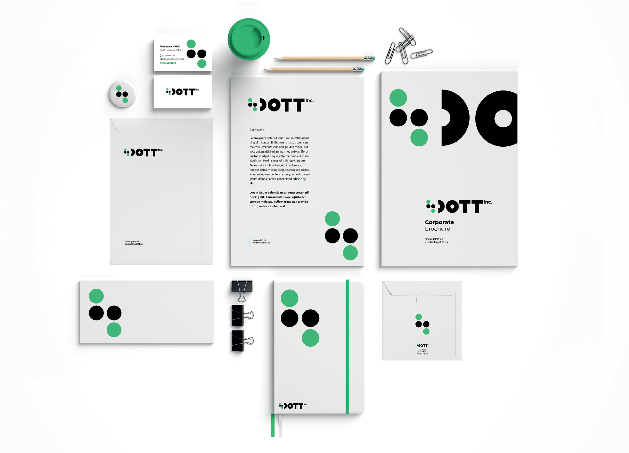 DOTT-stationery-branding-logos